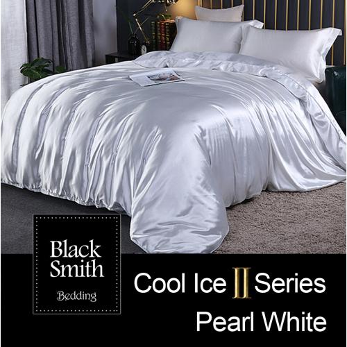 Black Smith 白色2870針 第二代冰絲綿床品套裝(單人/雙人/加大/特大)
