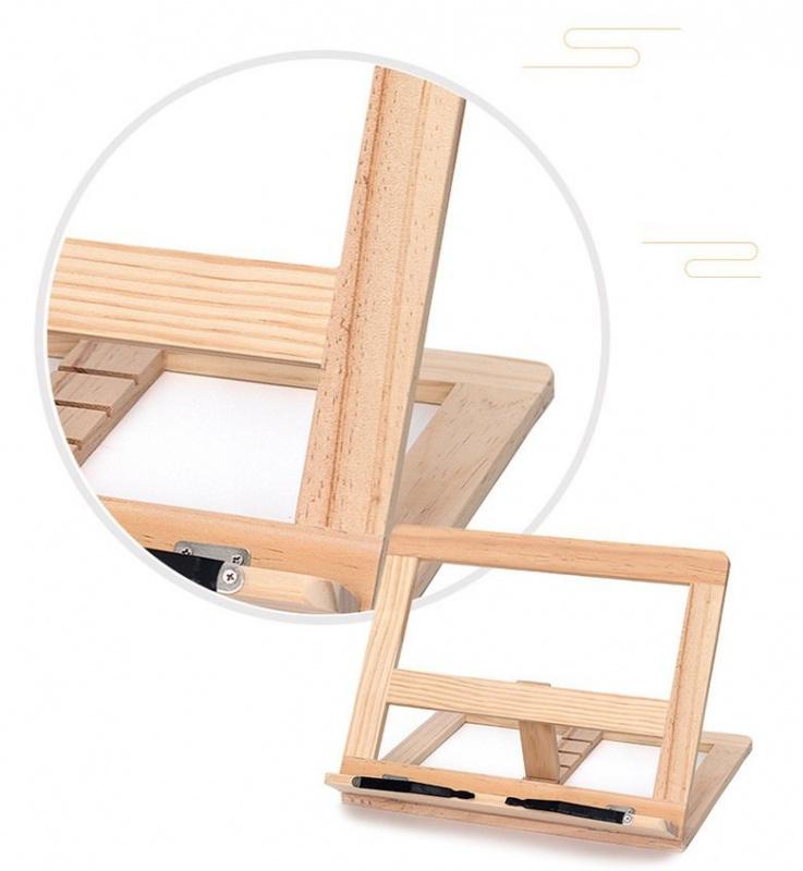 文青風松木實木摺疊讀書架
