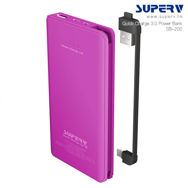 Superv QC3.0 10000mAh 雙向急速充電移動電源 [4色]