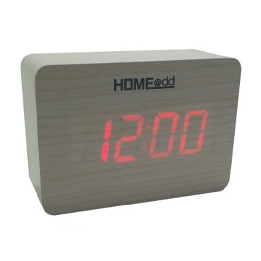 HOME@dd® LED時尚木頭鬧鐘 [4色]