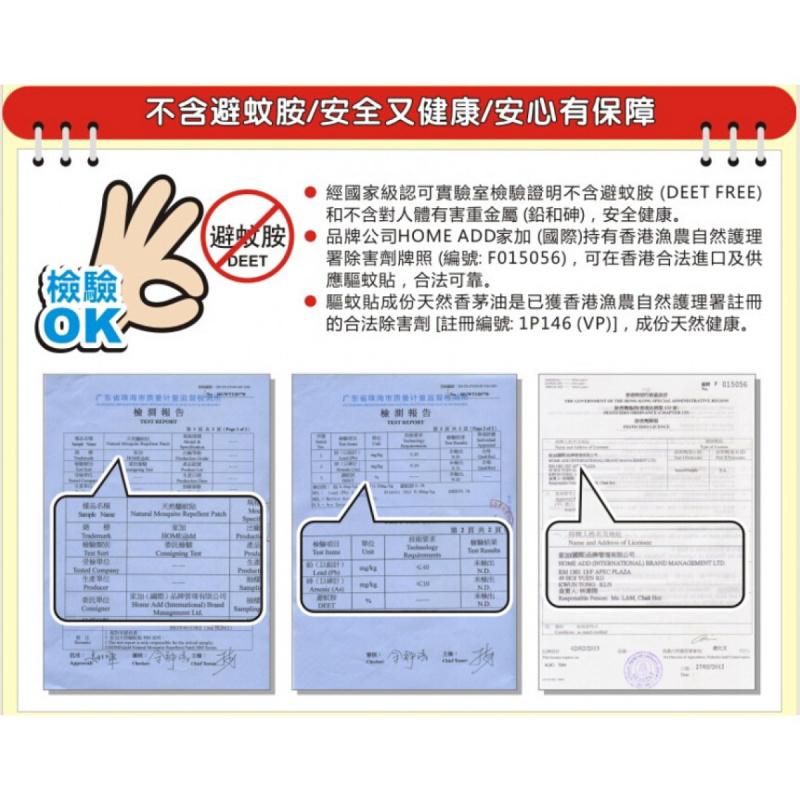 HOME@dd 嬰童專用型 天然驅蚊貼 [8盒優惠裝] (HM01)