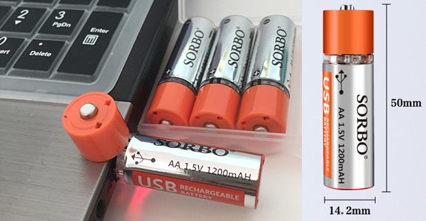 Sorbo USD充電電芯4粒套裝 [2款]
