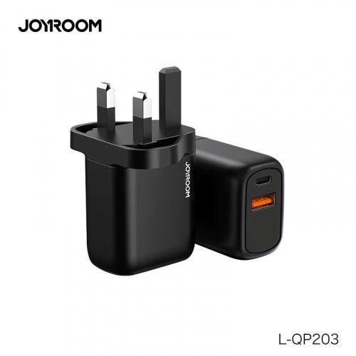 Joyroom 20W PD+QC3.0 雙插頭三腳充電器