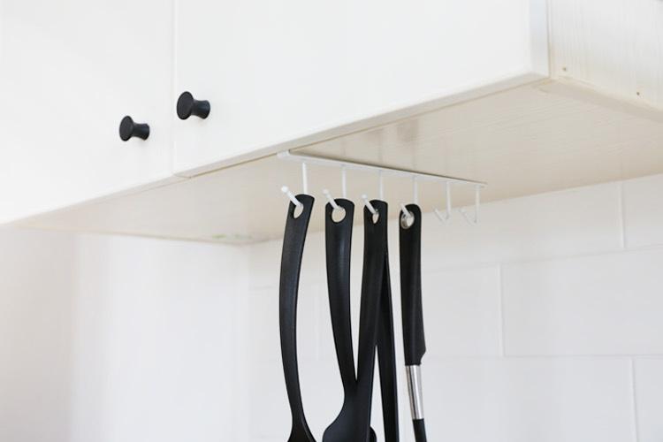 多功能廚櫃掛勾 (黑色3個)