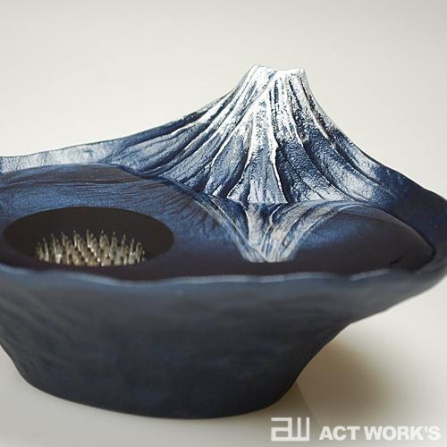 日本さかさ富士花器水盤 花盤