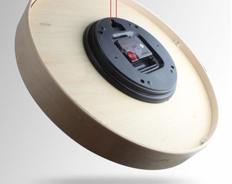 簡潔木質掛鐘30cm