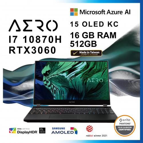 GIGABYTE AERO 15 OLED KC i7 / RTX3060 【Nvidia studio laptop / Workstation】