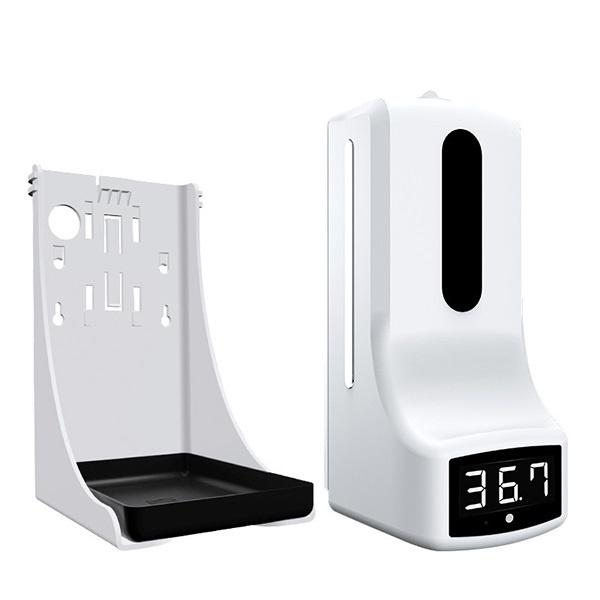 日本JTSK K9 Pro免洗無接觸消毒液器自動測溫儀 紅外感應語音播報一體機