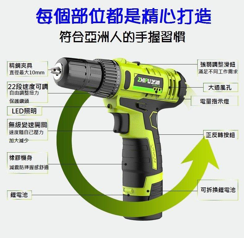 ZHIPU 15V/30V 無線電動螺絲批/電鑽[28配件套裝組合]