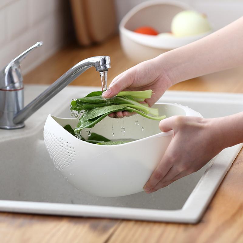 日系簡潔瀝水籃洗菜洗米籃