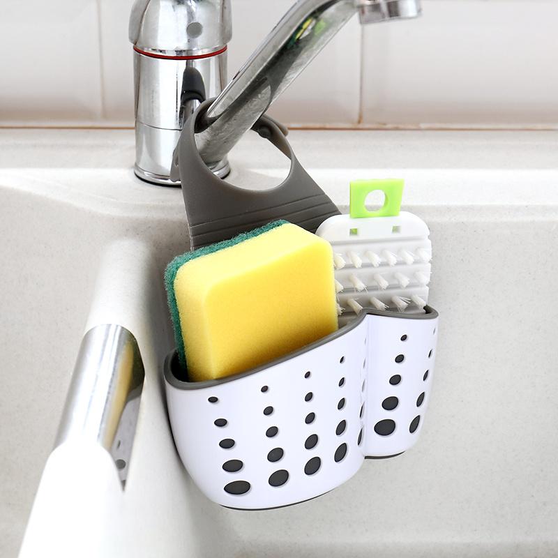 日系簡潔浴室廚房水喉瀝水籃