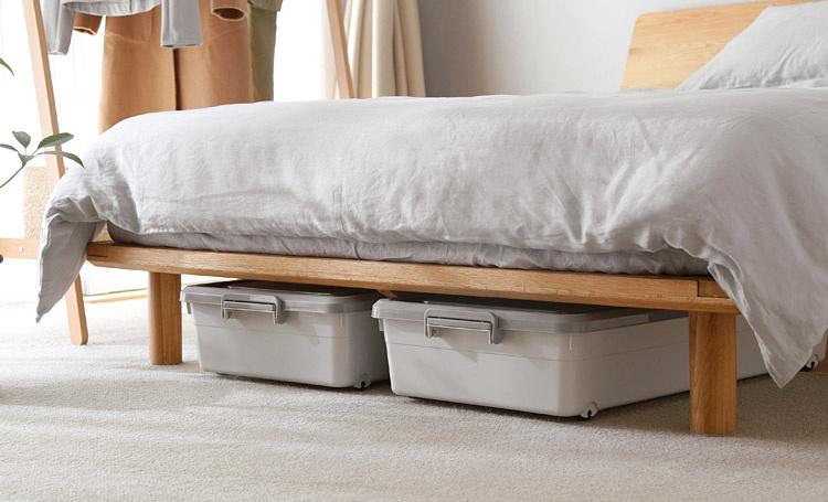 簡潔床底衣服衣物被單收納箱