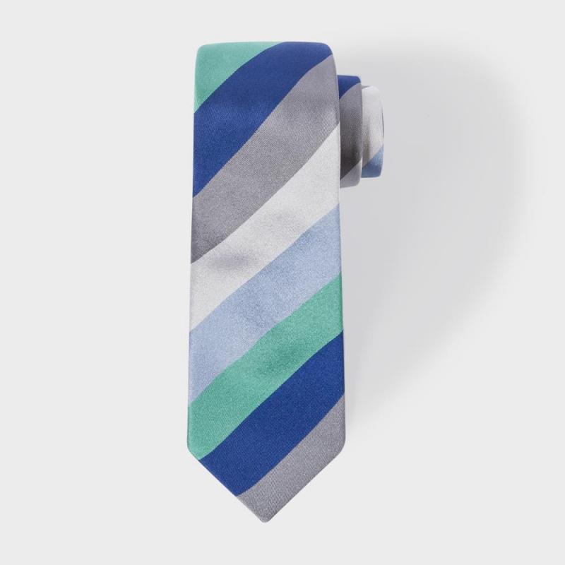 Paul Smith 灰色斜紋領帶