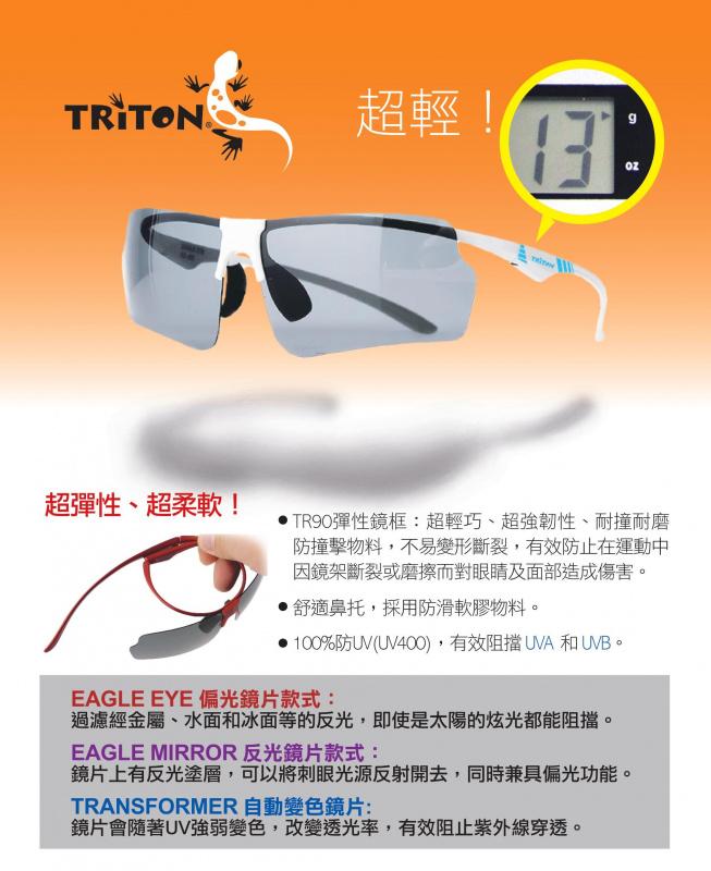 Triton Eagle Mirror 02 超輕偏光鏡 [2色]