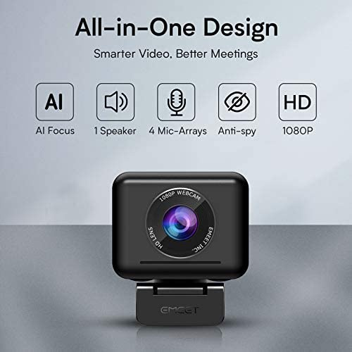 eMeet - Jupiter AI Focus Webcam - EMJUPLTERBLKCN