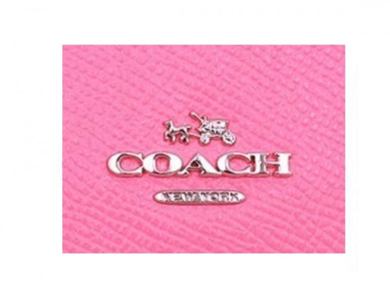 Coach F25957 皮革女裝摺叠鈕扣錢包