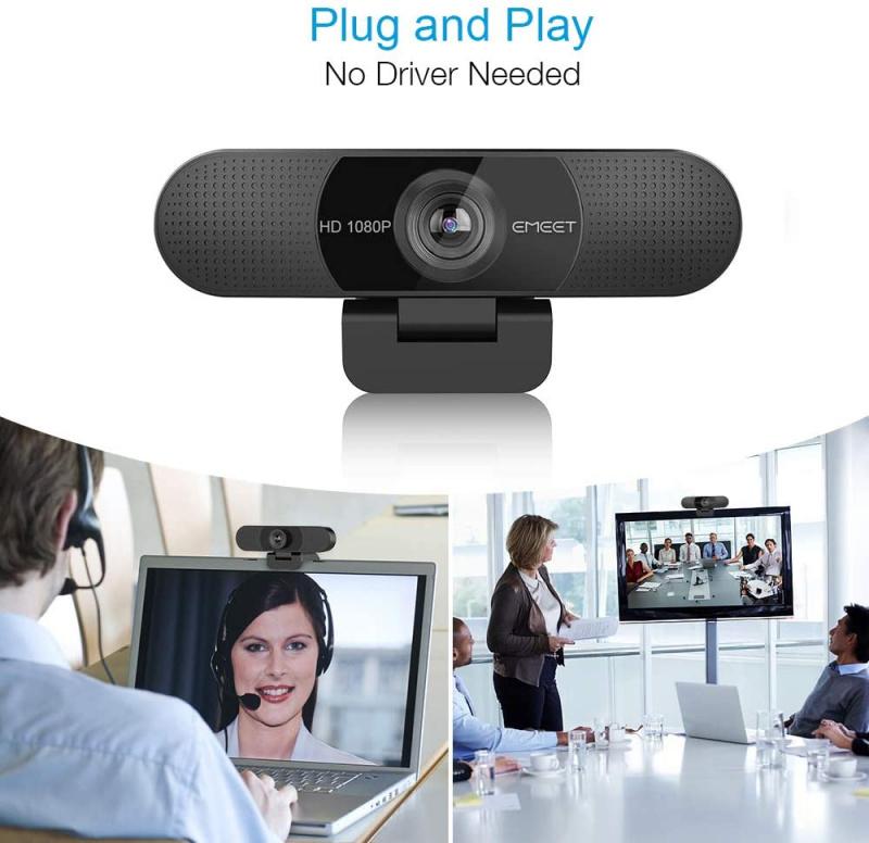 eMeet - HD Webcam C980 Pro - EMC980ProBLKCN