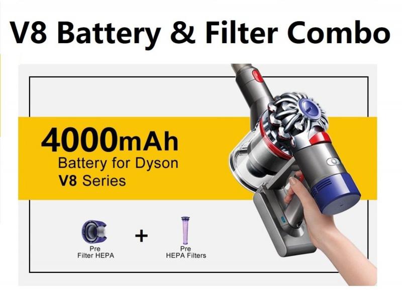 大神副廠 V8 4000mAh 電池+ 前後濾芯 Filter 套裝
