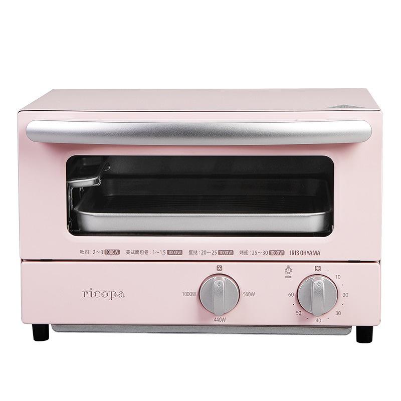 IRIS OHYAMA Ricopa 迷你焗爐 EOT-R021 (粉紅色)