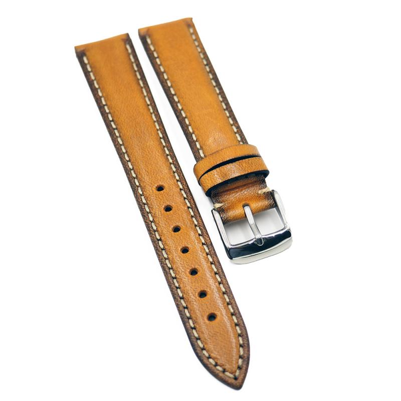 18mm 暗金色牛皮錶帶