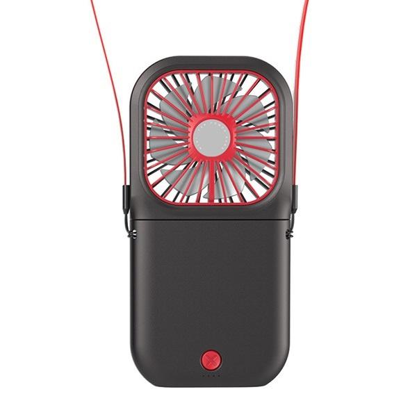 韓國B&C 2021新款掛脖風扇迷你便攜折疊usb小風扇 靜音充電寶風扇