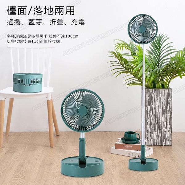 韓國B&C 便攜式家用伸縮搖頭折疊風扇 桌面帶藍牙音響香薰功能