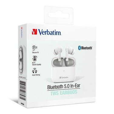 Verbatim 威寶 藍牙 5.0入耳式 Hi Fi真無線TWS耳塞式耳機 (兩色)