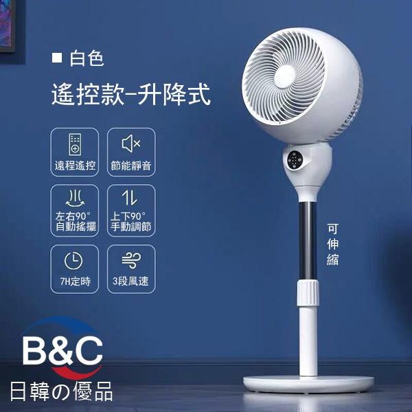 韓國B&C 家用空氣循環扇遙控立式電風扇 落地靜音渦輪對流風扇