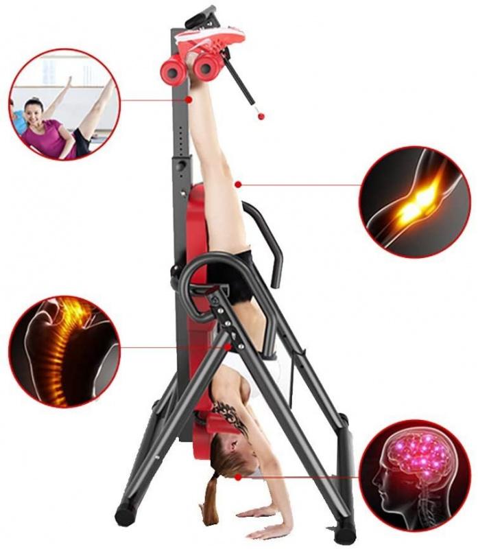 摺合型倒立重力訓練器 高度調節管釋放神經壓力