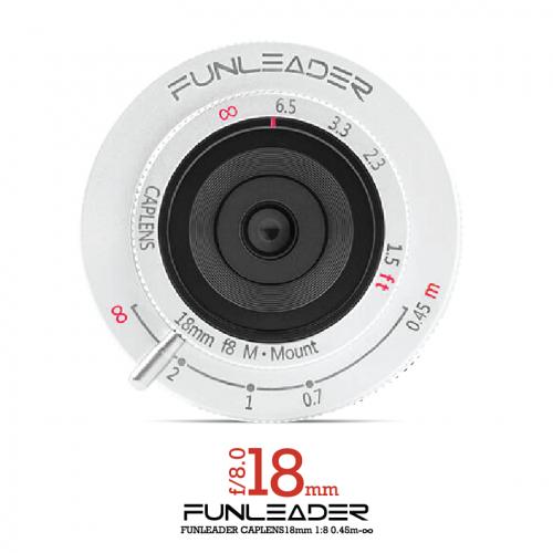 [現貨發售]~FUNLEADER CAPLENS 18mm F8.0/0.45m-∞ M-mount (銀)