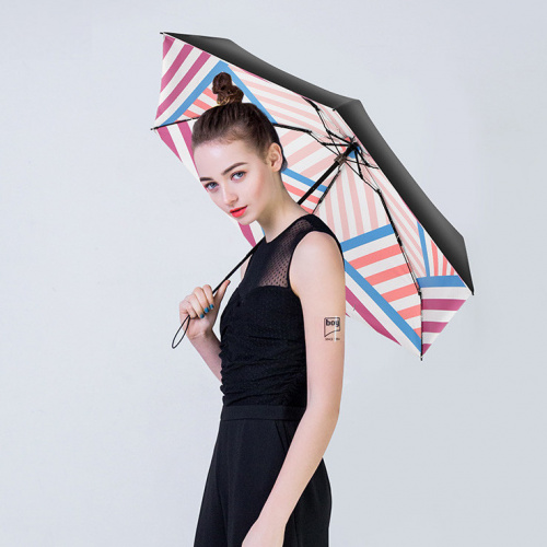 Boy BY5004 拼接撞色迷你五折防曬雨傘 [5款]