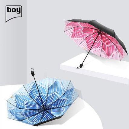 boy BY3067 墨染三折防曬摺疊雨傘 [2款]