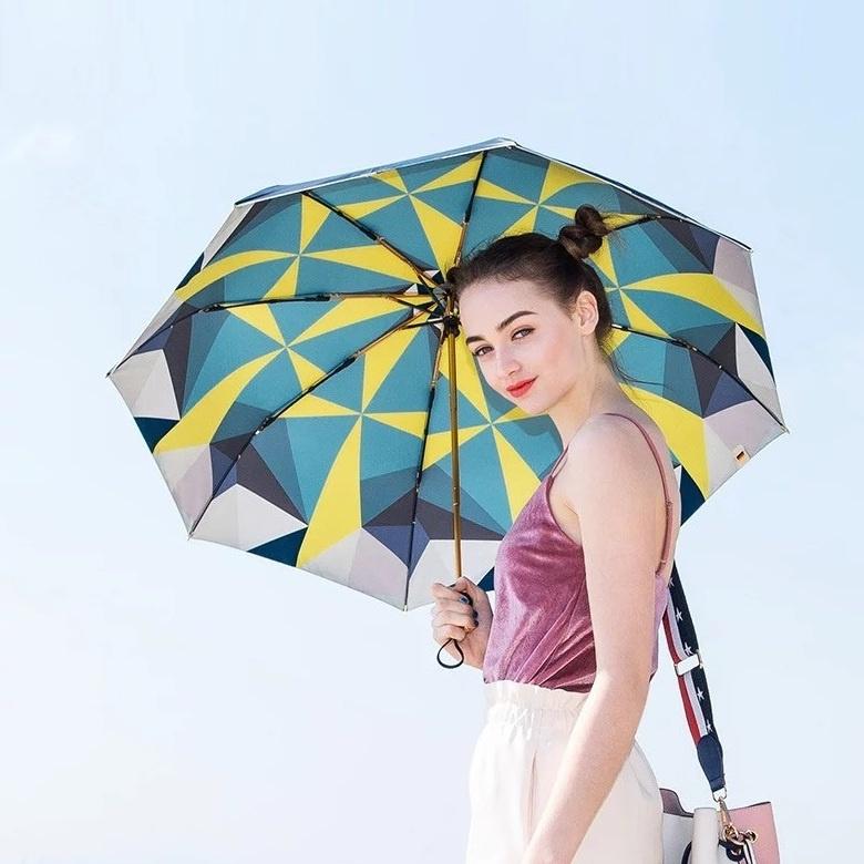 boy BY3052 撞色三折防紫外線防潑水摺疊雨傘 [4款]