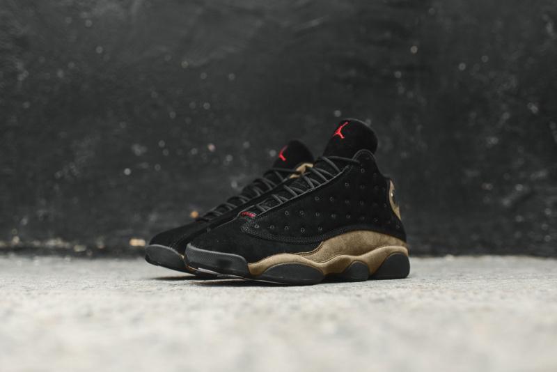 Nike Air Jordan 13 Retro 男裝鞋 [黑橄欖色]