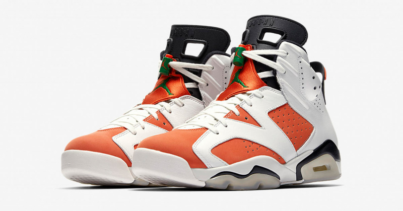 Nike Air Jordan 6 Retro Gatorade 男裝鞋 [白橙色]