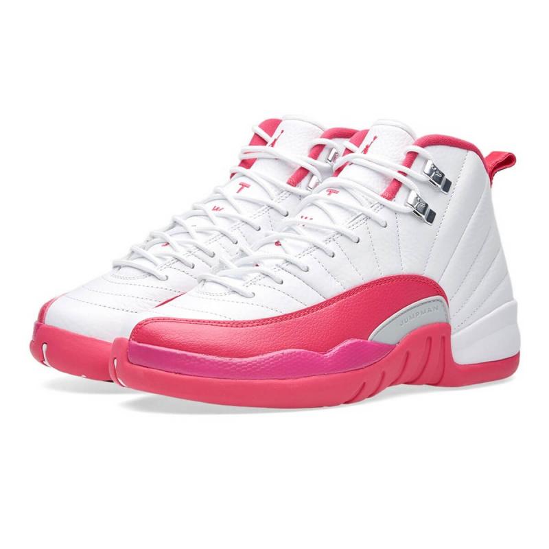 Nike Air Jordan 12 Valentine's Day 女裝鞋 [白粉紅色]