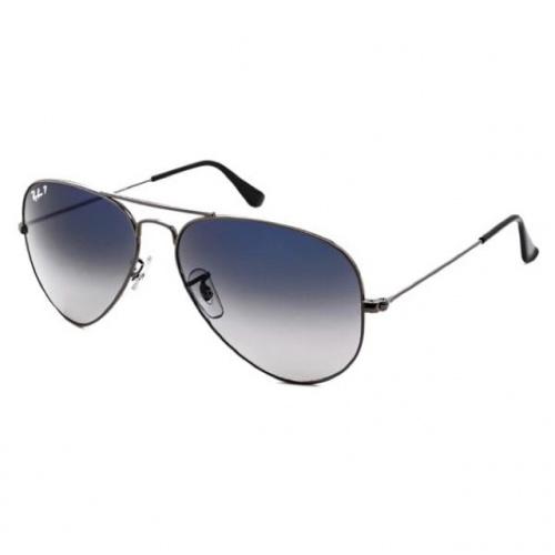 (Polarized) Ray-Ban RB3025 004/78 Aviator Gradient 太陽眼鏡 | 槍色鏡框及漸變藍色偏光鏡片