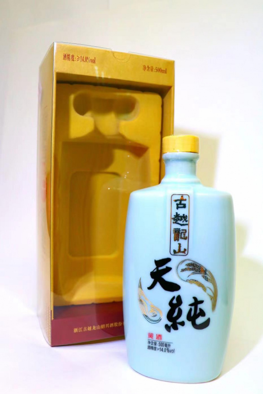 古越龍山 天純黃酒 500ml    $180 / 瓶