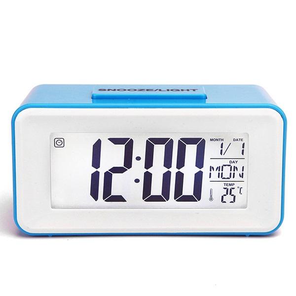 韓國B&C 創意電子貪睡鬧鐘 MINI小型智能聲控電子鐘