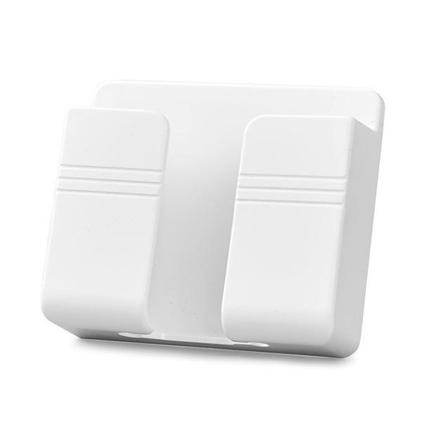 韓國B&C 多功能粘貼式牆壁手機充電支架 創意掛置物架免孔床頭手機支架