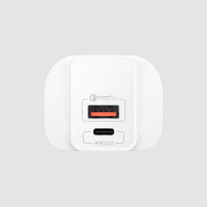 【香港行貨】MOMAX ONEPlug 雙USB Type C + QCD3.0 USB 快速充電器 英規 UM13[充電器 電池]