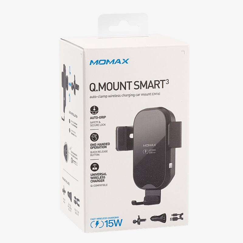 Momax Q.Mount Smart 3 重力無線智能車充支架 CM16[充電器 電池] 【香港行貨】