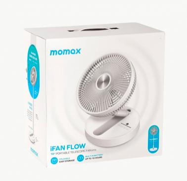 MOMAX - iFan Flow 無線靜音摺疊風扇 USB-C 充電 IF9
