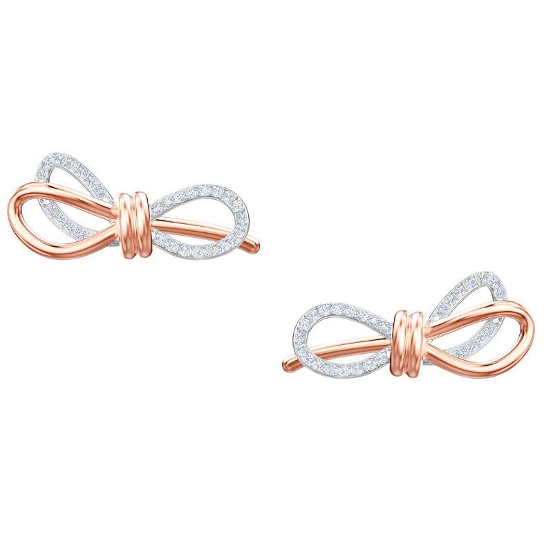 Swarovski - LifeLong Bow 蝴蝶結造型穿孔耳環 (5447089)
