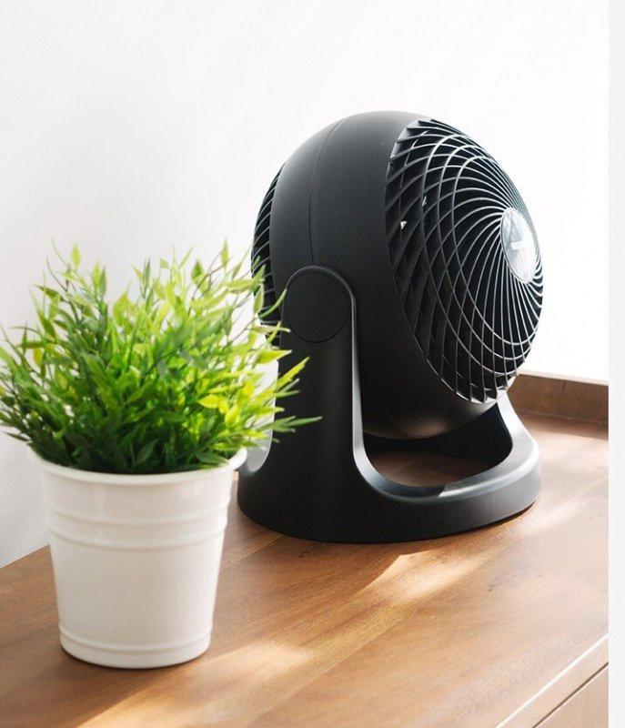 IRIS OHYAMA HE18 靜音空氣循環風扇 [黑色]