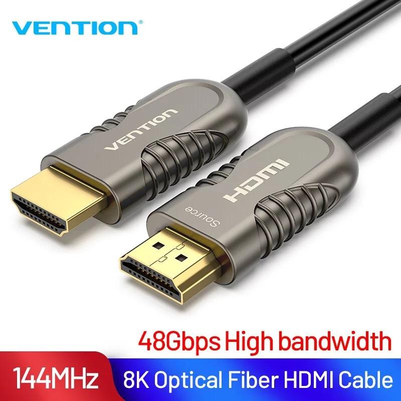 【香港行貨】VENTION Optical HDMI Cable 8K Black Metal Type CE-VOH85M[電腦線材]