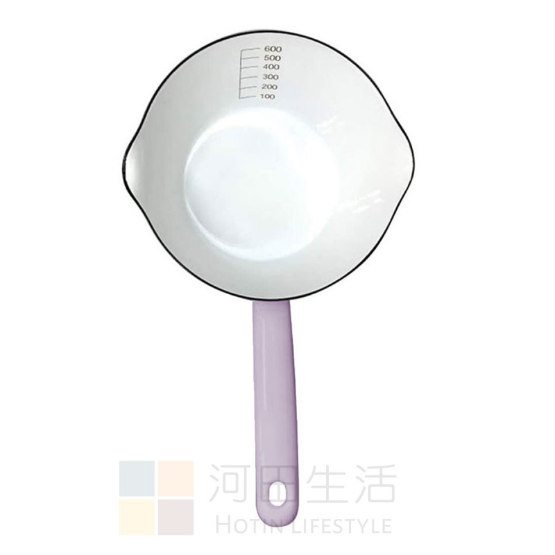 Fujihoro 日本富士ホーロー 薰衣草琺瑯牛奶鍋 14cm |煮牛奶|煮汁醬|煮花茶|牛油|牛扒汁|三文魚汁|雞扒汁|豬扒汁|羊架汁|