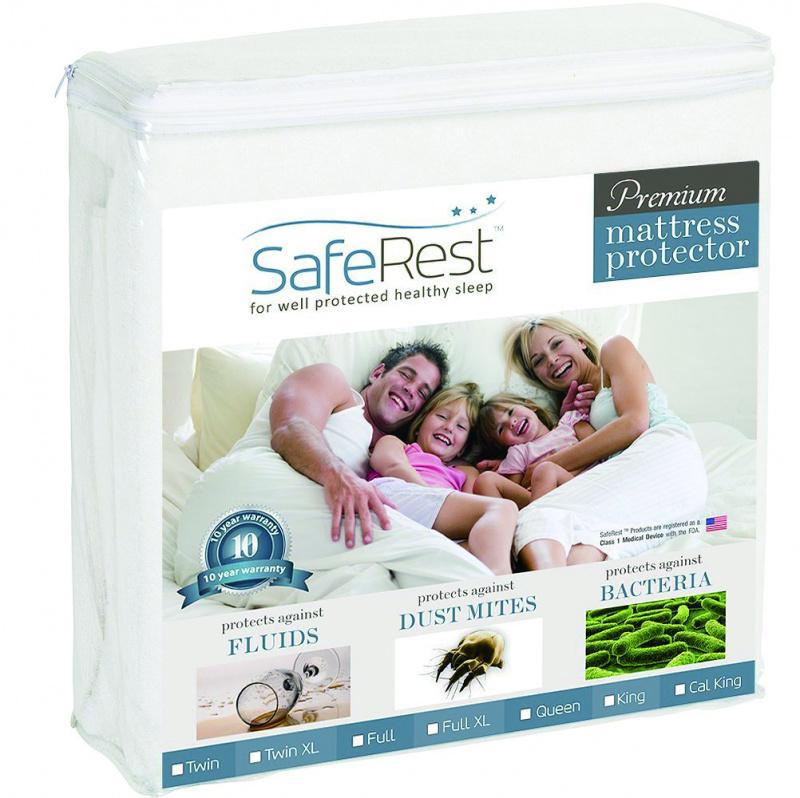 SafeRest 防水防蟎床單 頂級純綿版 (附鬆緊帶)