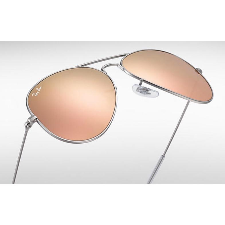 Ray-Ban RB3025 Aviator Flash Lenses 銅色反光鏡片太陽眼鏡 | 019/Z2 銀色鏡框