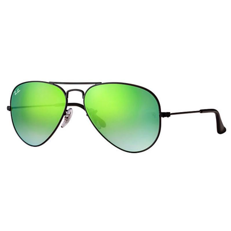 Ray-Ban RB3025 Aviator Flash Lenses Gradient 漸變綠色反光鏡片太陽眼鏡   002/4J 黑色鏡框